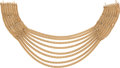 Luxury Accessories:Accessories, Chanel 1983 8-Strand Liquid Gold Chain Runway Necklace. ...