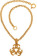 Luxury Accessories:Accessories, Chanel 1994 Fall Etruscan Triple Logo Necklace. ...