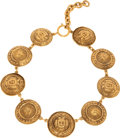 Luxury Accessories:Accessories, Chanel 1980's Paris Coat of Arms Sophisticated Choker. ...