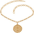 Luxury Accessories:Accessories, Chanel Paris 1980's Icon Medallion Runway Necklace. ...
