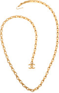 Luxury Accessories:Accessories, Chanel 1998 Custom Order Fall Rose Gold Bike Chain Lariat Necklace....