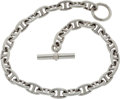 "Luxury Accessories:Accessories, Hermes Sterling Silver Chaine d'Ancre GM Necklace 17"". ..."