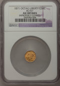 California Fractional Gold, 1871 50C Liberty Octagonal 50 Cents, BG-927, Low R.5,--ImproperlyCleaned--NGC Details. AU. NGC Census: (0/3). PCGS Populat...