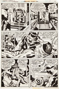 Original Comic Art:Panel Pages, Jack Kirby and Mike Royer Captain America #214 page 17 Original Art (DC, 1977)....