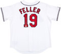 "Baseball Collectibles:Uniforms, Bob Feller ""3 No Hitters"" Signed Jersey...."