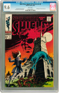 Silver Age (1956-1969):Science Fiction, Nick Fury, Agent of S.H.I.E.L.D. #3 (Marvel, 1968) CGC NM+ 9.6White pages....