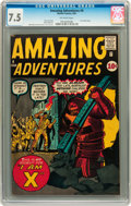 Silver Age (1956-1969):Horror, Amazing Adventures #4 (Marvel, 1961) CGC VF- 7.5 Off-whitepages....