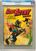 Golden Age (1938-1955):Western, Gene Autry Comics #1 (Fawcett, 1942) CGC VG- 3.5 Cream to off-white pages....