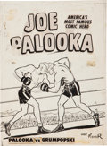 Original Comic Art:Covers, Joe Palooka #7 Boxing Ring Cover Original Art (Harvey,1946)....