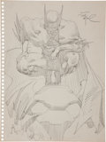 Original Comic Art:Sketches, Frank Miller Batman Sketch Original Art (circa 1982)....
