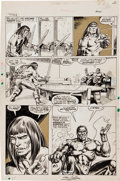 Original Comic Art:Panel Pages, Neal Adams and Tony DeZuniga The Savage Sword ofConan #14 page 24 Original Art (Marvel, 1976)....