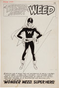 "Original Comic Art:Splash Pages, John Giunta Dynamo #1 ""Wonder Weed, Super Hero"" Splash Page1 Original Art (Tower, 1966)...."