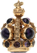 Estate Jewelry:Other , Amethyst, Gold Fob . ...