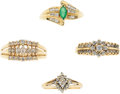 Estate Jewelry:Rings, Diamond, Emerald, Gold Rings. ...