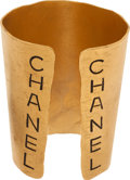 Luxury Accessories:Accessories, Chanel 1981 Block Letter Large Runway Cuff. ...
