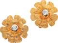 Luxury Accessories:Accessories, Chanel 1981 Petite Camilla Diamante Earrings. ... (Total: 2 Items)
