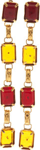 Luxury Accessories:Accessories, Chanel 1987 Important Long Gripoix Runway Earrings. ... (Total: 2 Items)