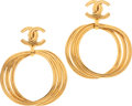 Luxury Accessories:Accessories, Chanel 1992 Fall Collection Classic Triple Hoop Earrings. ...(Total: 2 Items)