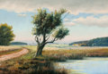 Fine Art - Painting, European:Modern  (1900 1949)  , FROM THE FLANNER & BUCHANAN CORPORATE COLLECTION. F. MOE(Norwegian, 20th Century). Norwegian Country Landscape,circa...