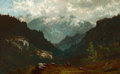 American:Hudson River School, FROM THE FLANNER & BUCHANAN CORPORATE COLLECTION. JOHN JOSEPHENNEKING (American, 1841-1916). Wilmington Pass,Adirondac...