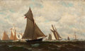American:Marine, FROM THE FLANNER & BUCHANAN CORPORATE COLLECTION. HENRY CHASE(American, 1853-1889). Yachting. Oil on canvas. 11-1/2 x...
