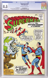 Superman #169 (DC, 1964) CGC VF+ 8.5 Off-white to white pages. Curt Swan cover and art. Overstreet 2006 VF 8.0 value = $...