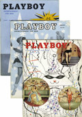 Magazines:Miscellaneous, Playboy Group (HMH Publishing, 1954-55) Condition: Average VG.... (Total: 13)