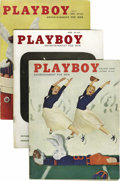 Magazines:Miscellaneous, Playboy Group (HMH Publishing, 1956-57) Condition: Average VG....(Total: 18)