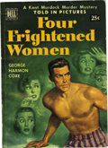 "Books:Vintage Paperbacks, Four Frightened Women Told-In-Pictures Edition #2 - Davis Crippen(""D Copy"") pedigree (Dell, 1950) Condition: FN/VF...."