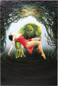 """Original Comic Art:Paintings, Chris Achilleos - """"Swamp Thing"""" Painting Original Art (undated). The soggy beast of the bogs, the Swamp Thing, roams the bac..."""