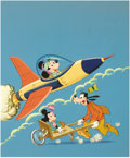 Original Comic Art:Covers, Mickey Mouse Movin' On Sticker Activity Book Cover IllustrationOriginal Art (Whitman, 1979)....
