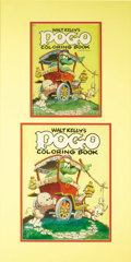 Original Comic Art:Covers, Walt Kelly's Pogo Coloring Book Cover Original Art (Whitman,1953)....