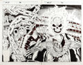 Original Comic Art:Covers, Rob Liefeld - Marvel Comics Presents #70 Cover Original Art(Marvel, 1991). The mayhem-loving mutant and the flame-headed Jo...