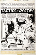 Original Comic Art:Splash Pages, Val Mayerik and Klaus Janson - Frankenstein #15, Splash page 1Original Art (Marvel, 1975)....
