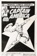 Original Comic Art:Covers, Frank Miller and Joe Rubenstein - Captain America Annual #5 CoverOriginal Art (Marvel, 1981). ...