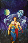 Original Comic Art:Covers, Gray Morrow - Perry Rhodan #93 Paperback Cover Original Art (Ace,1976). ...
