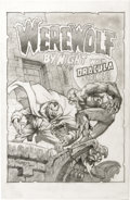 Original Comic Art:Illustrations, Mike Ploog - Werewolf by Night #15 Cover Recreation Original Art(2002). Macabre Mike Ploog has recreated a bombastic Bronze...