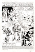Original Comic Art:Splash Pages, Frank Springer and Kim DeMulder - The Transformers #2, Splash page1 Original Art (Marvel, 1984). ...