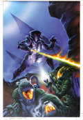 Original Comic Art:Covers, Ken Steacy - Space: Above and Beyond #1 Original Art (Topps,1996)....