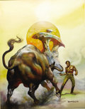 "Original Comic Art:Covers, Boris Vallejo - ""Two Hawks From Earth"" Paperback Cover PaintingOriginal Art (Ace, 1979)...."
