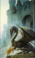 "Original Comic Art:Covers, Michael Whelan - ""Dragonsbane"" Paperback Cover Painting OriginalArt (Del Rey, 1985)...."