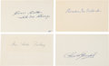 Autographs:Others, 1919 Chicago Black Sox Signed Autographs Lot of 4....