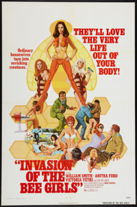 "Invasion of the Bee Girls (Centaur, 1973). One Sheet (27"" X 41""). Sexploitation"