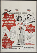 "Movie Posters:Sexploitation, Girls Dormitory Scandal (Roadshow Attractions, 1950). One Sheet(27"" X 41""). Sexploitation.. ..."