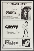 Movie Posters:Sexploitation, Vixen! / Cherry, Harry & Raquel/ and Finders Keepers, Lovers Weepers Combo (Eve Productions, R-1970s). Autographed Combo One...