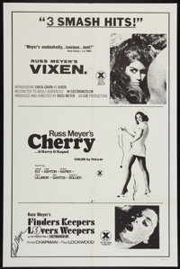 Vixen! / Cherry, Harry & Raquel/ and Finders Keepers, Lovers Weepers Combo (Eve Productions, R-1970s). Autograph...