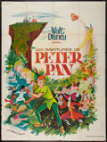"Movie Posters:Animated, Peter Pan (Walt Disney, R-1960s). French Grande (47"" X 63""). Animated.. ..."