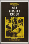 "Movie Posters:Adult, All Night Rider (Distribpix, 1969). One Sheet (27"" X 41""). Adult.. ..."