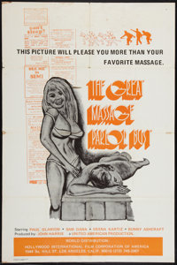 """The Great Massage Parlor Bust (Hollywood International Film Corp., 1975). One Sheet (27"""" X 41""""). Adult"""