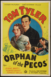 "Orphan of the Pecos (Victory, 1937). One Sheet (27"" X 41""). Western"